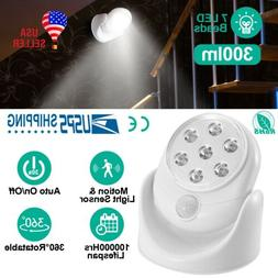 1-4 Pcs Battery Operated Motion Activated PIR Sensor Cordles