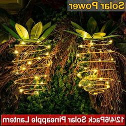 1-6X Solar Garden Lights Pineapple Outdoor Hanging Light Wal
