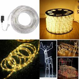 100 Ft 720 LED Rope Lights 2 Wire Low Voltage Waterproof Out