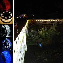 100FT LED Rope Lights 110V Home Party Wedding Decor In/Outdo