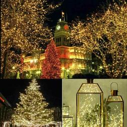 100 LED Fairy String Lights USB Copper Wire Xmas Home Garden