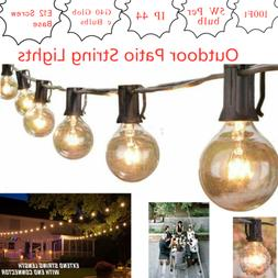 100Ft Outdoor Patio Hanging Wire String Lights with 100Pcs G