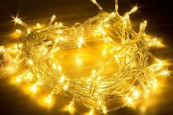 100LED Fairy String Lights Warm White IP65 US Plug Outdoor X