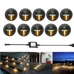 10Pcs LED Deck Step Stair Light Outdoor Landscape Yard Light