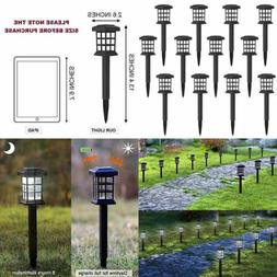 12 Pack Solar Pathway Lights Outdoor LED Powered Garden For