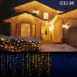13-130FT LED Fairy Icicle String Curtain Lights Indoor Outdo