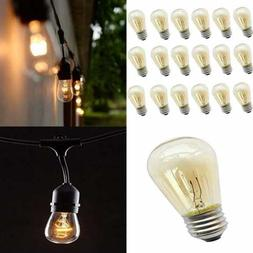 15 Pack Outdoor String Lights Replacement Bulbs S14 11W Inca