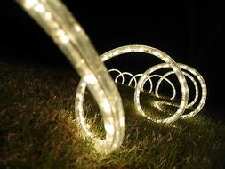 50-Feet, Warm White, 120V 2-Wire 1/2-Inch LED Rope Light, 1.