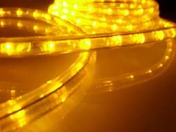 150-Feet, Yellow, 120V 2-Wire 1/2-Inch LED Rope Light, 1.0-I