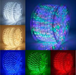 150' LED Rope Light Kit, 120V, Home Party Xmas Holiday Ind