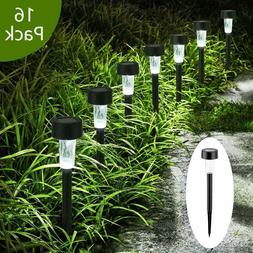 16Pcs Solar Outdoor Garden LED Lights Waterproof Landscape P