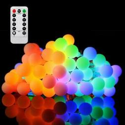 16FT String Lights Outdoor Colored Globe LED Fairy Light Wit