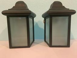 2 Outdoor wall lights -Porch Lights -Outdoor Sconces Black N