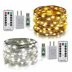 ER CHEN 2 Pack Color Changing Fairy Lights