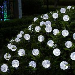 2 Pack Solar String Lights for Outdoor Patio Lawn Landscape