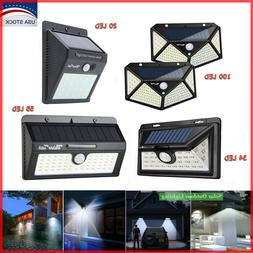 20/34/55/100LED Solar Lights Outdoor Motion Sensor Wall Ligh