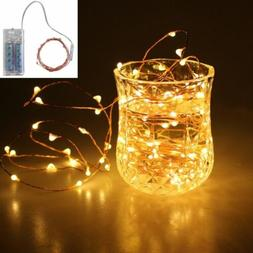 20/50/100 LED Outdoor String Lights Battery Copper Wire IP65