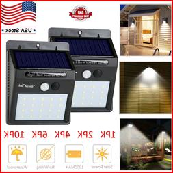 Outdoor Solar 20 LED Waterproof Motion Sensor Wall Light Gar