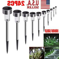 24 Garden Outdoor Stainless Steel Solar LED Landscape Path L