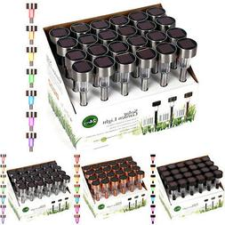 24 Pack Outdoor Solar Powered Color Changing LED Landscape P
