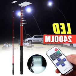 2400LM 12V Fishing Lamp RF Remote Control Telescopic Camping