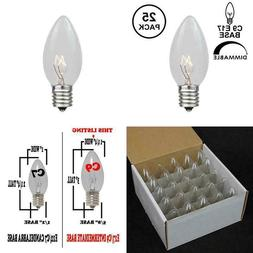 25 pack c9 outdoor christmas replacement bulbs