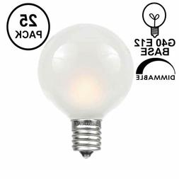 25 pack g40 outdoor globe replacement bulbs