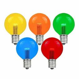 Novelty Lights 25 Pack LED G50 Outdoor Patio Globe Replaceme
