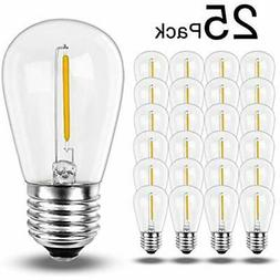25PACK LED Bulbs - 1W S14 Light For String Replacement, Outd