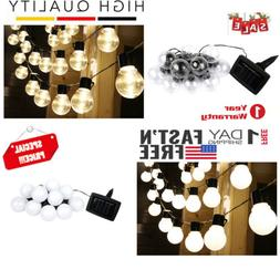 2M Outdoor String Lights for Patio Globe Party Weddings Ligh