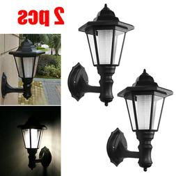 Solar Power LED Palace Wall Light Sconce Outdoor Garden Ligh