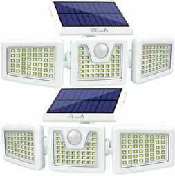 2Pcs Solar Lights Outdoor,LED Waterproof Motion Sensor Light