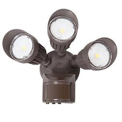 Maxxima 3 Head Outdoor LED Security Light, 30W, 2700 Lumens,