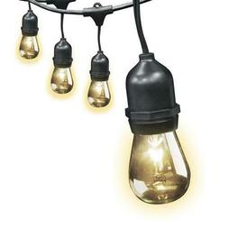 30' Black Dimmable 15 Decorative Clear Bulbs String Light Se