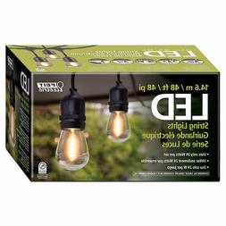 Feit Electric 48 FT LED Outdoor String Lights Commercial Gra