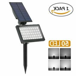 2-Pack 48 LED Waterproof Solar Powered Outdoor Garden Securi