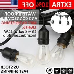 48ft Patio String Lights 11W Incandescent Bulbs Wedding Part