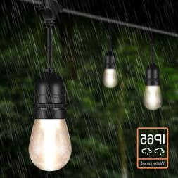 48ft LED Outdoor String Lights with15 x 1.5W Dimmable Edison