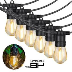 48FT Garden LED String Lights Fairy Outdoor Patio Party Wate