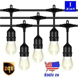 48FT LED Outdoor String Light with 1.5W Vintage Edison Bulbs