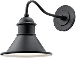 "Kichler 49776BK Northland 14"" Outdoor Wall Sconce in Black"