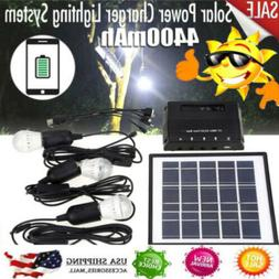 4W Solar Power Panel LED Lights Charger Light System Kit Out