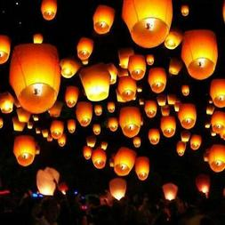50 / 100 Sky Lanterns Chinese Paper Candle Lamp Fly for Wish