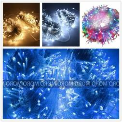 50/100M LED String Lights Fairy Christmas Party Wedding Outd