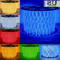 50' 150' LED Rope Light 110V Party Home Christmas Outdoor Xm