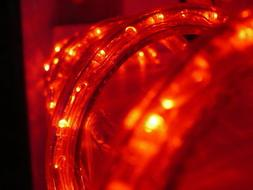 150-Feet, Red, 120V 2-Wire 1/2-Inch LED Rope Light, 1.0-Inch