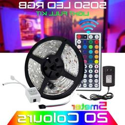 5050 RGB LED Strip Light Colour Changing Tape Under Cabinet