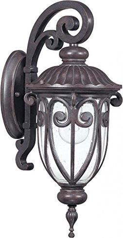 Nuvo 60/2066 Arm Down Wall Lantern with Clear Seeded Glass,