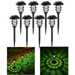 8 pack solar pathway lights waterproof led