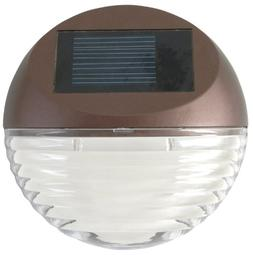 Moonrays 95027 Solar Powered Round Mini LED Deck Light, Bron